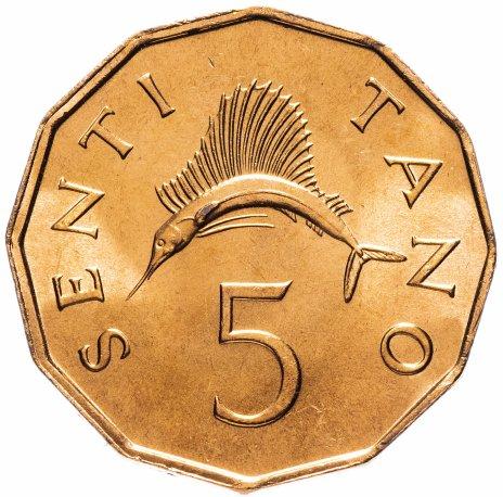купить Танзания 5 центов (cents) 1982