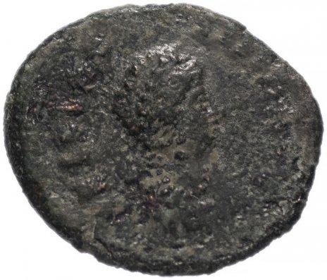 купить Римская Империя Элиа Флаккила 379–386 гг, 4 денария (реверс: Виктория сидит влево, рисует Хризму)