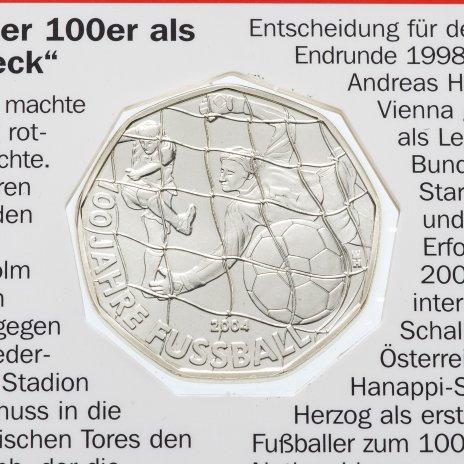 """купить Австрия 5 евро 2004 """"100 лет Футболу"""""""