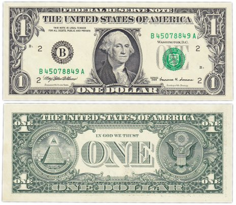купить США 1 доллар 1999 (Pick 504) B-Нью Йорк