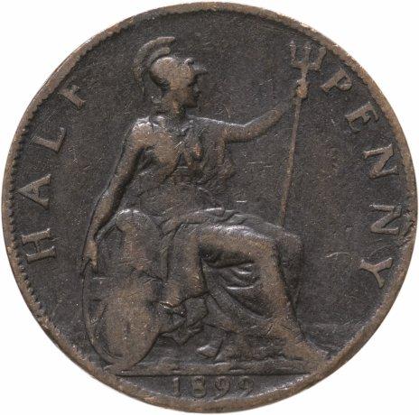 купить Великобритания 1/2 пенни (penny) 1899