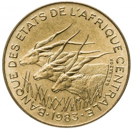 купить Центральная Африка 5 франков 1983