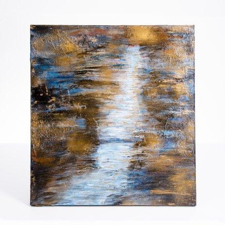 """купить Картина """"Лунная тропа"""", живопись, интерьерная картина, акриловые краски, холст, Россия, 2021 г."""