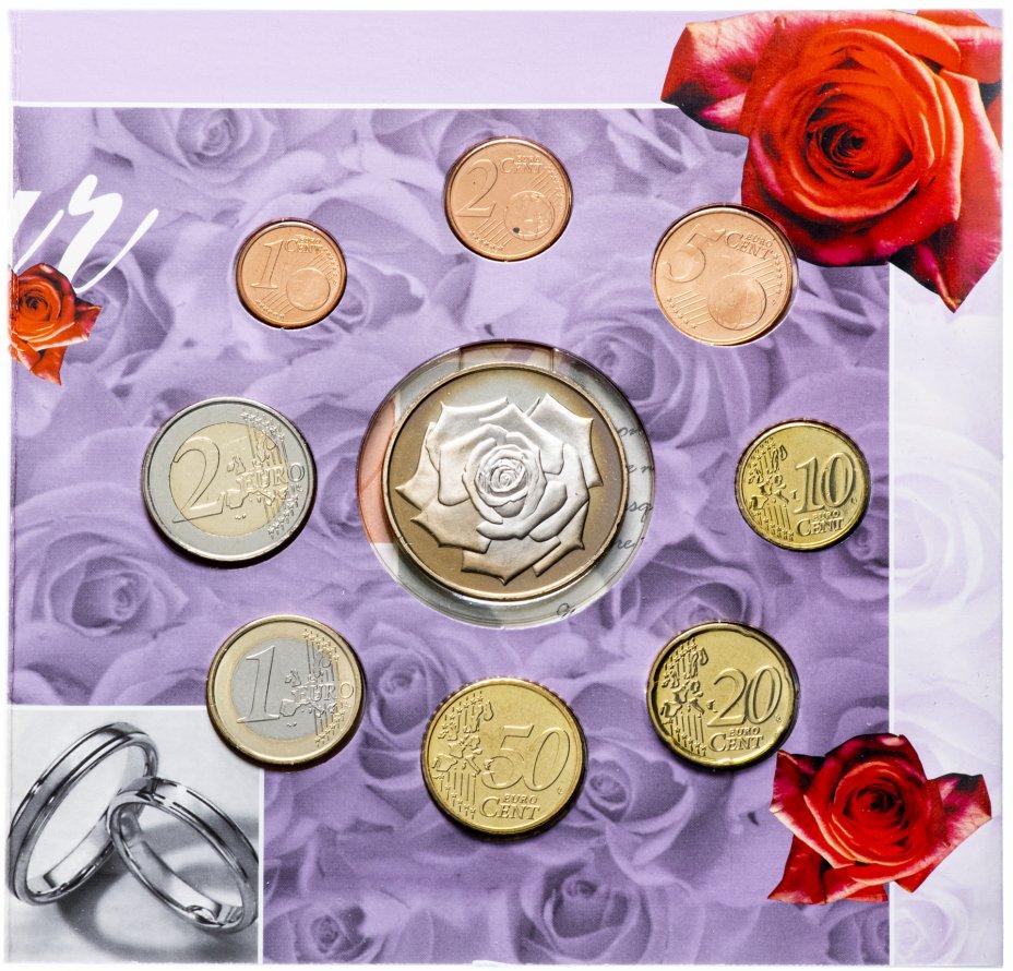 купить Бельгия годовой набор евро 2003 (8 монет + жетон в буклете) Свадебный