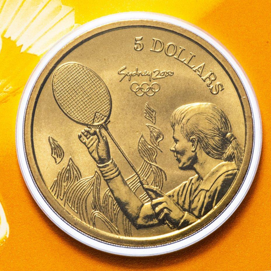 купить Австралия 5 долларов (dollars) 2000 Олимпийские игры в Сиднее - Бадминтон