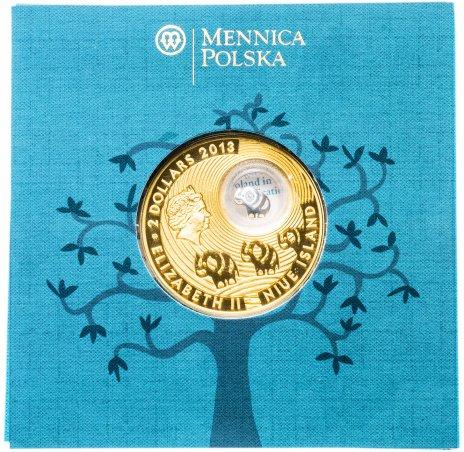 """купить Ниуэ 2 доллара (dollars) 2013 """"Монеты на счастье - Слон"""" в буклете с сертификатом"""