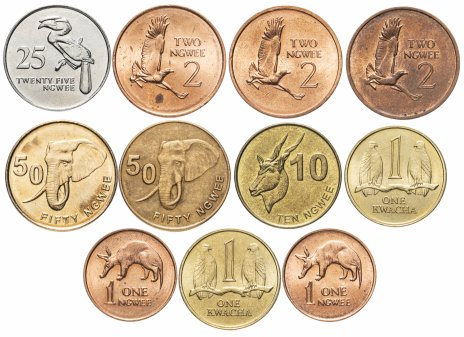 купить Замбия набор из 11 монет 1982-2014