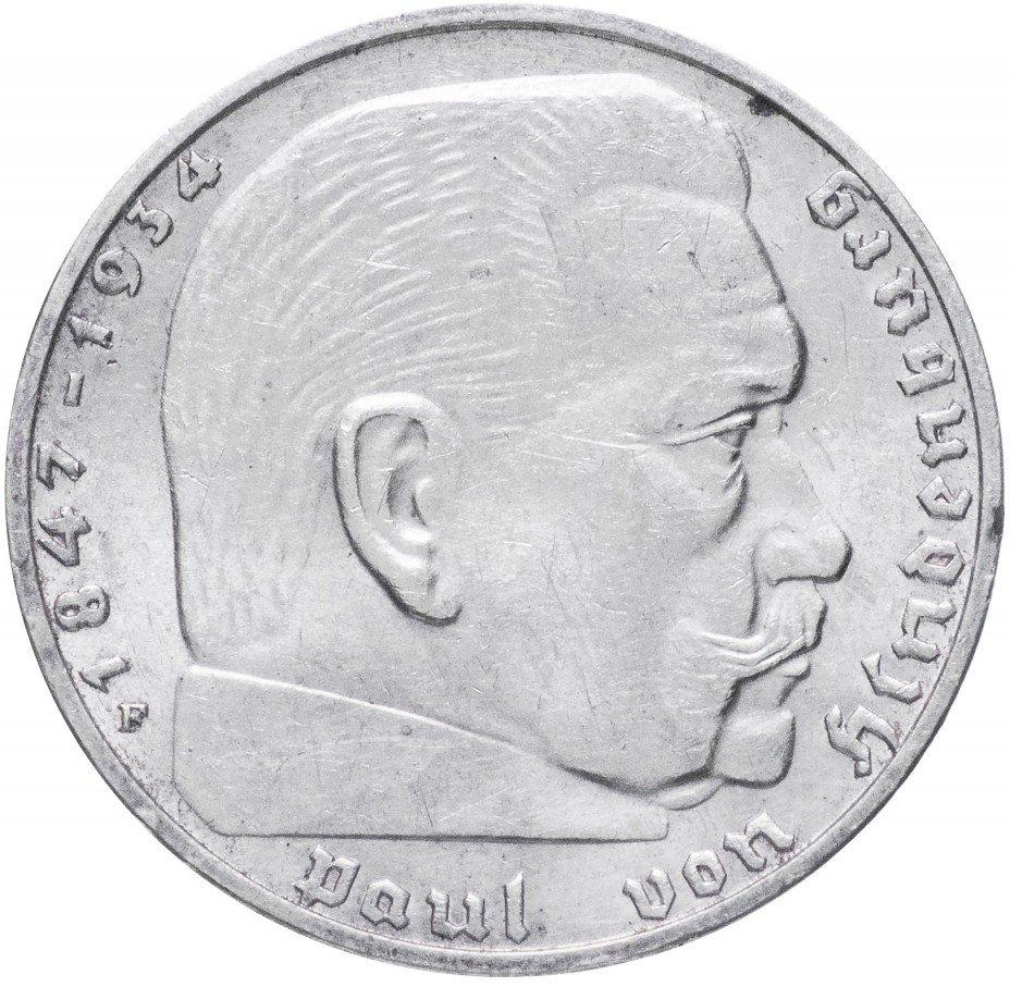 """купить Фашистская Германия (Третий Рейх) 2 рейхсмарки 1937 """"F"""""""
