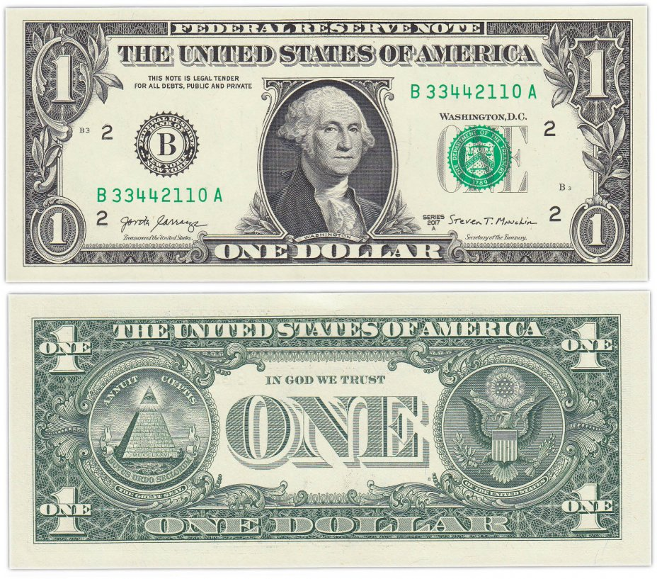 купить США 1 доллар 2017А (Pick 544) B-Нью Йорк