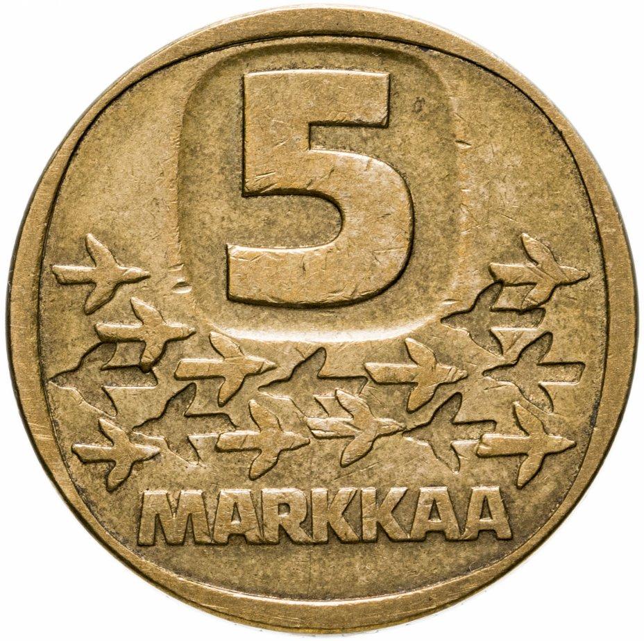 купить Финляндия 5 марок (markkaa) 1979-1993, случайная дата