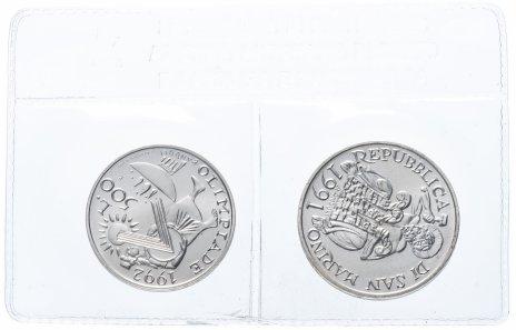 """купить Сан-Марино набор из 2-х монет 1991 """"Олимпийские игры 1992"""" в запайке"""