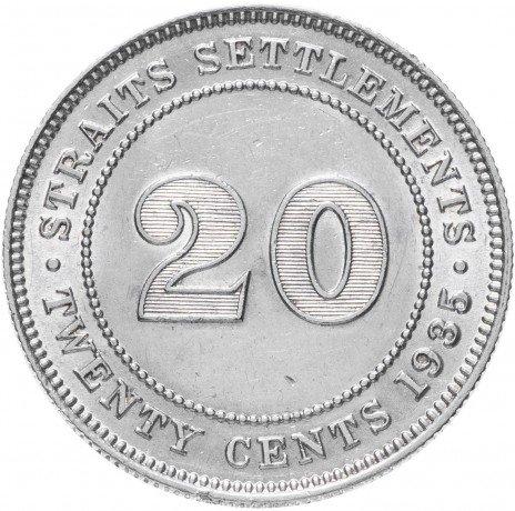 купить Стрейтс Сеттлментс 20 центов 1935