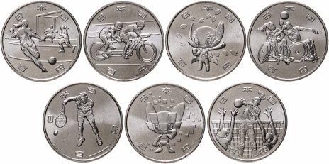 """купить Япония комплект из 7 монет 100 иен 2020 """"XXXII Летние Олимпийские игры в Токио 2020"""", 4-й выпуск"""