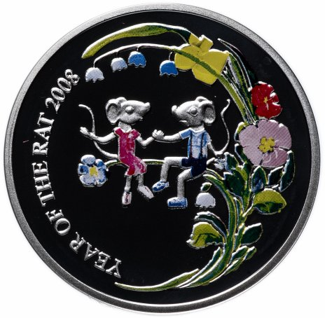 """купить Ниуэ 1 доллар 2007 """"Китайский гороскоп - год крысы"""" с сертификатом"""