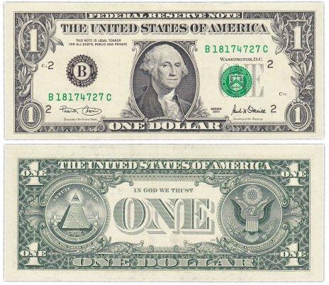 купить США 1 доллар 2001 (Pick 509) B-Нью Йорк