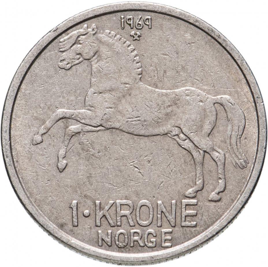 купить Норвегия 1 крона (krone) 1958-1973, случайная дата