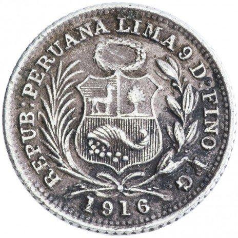 купить Перу 1/2 динеро 1916