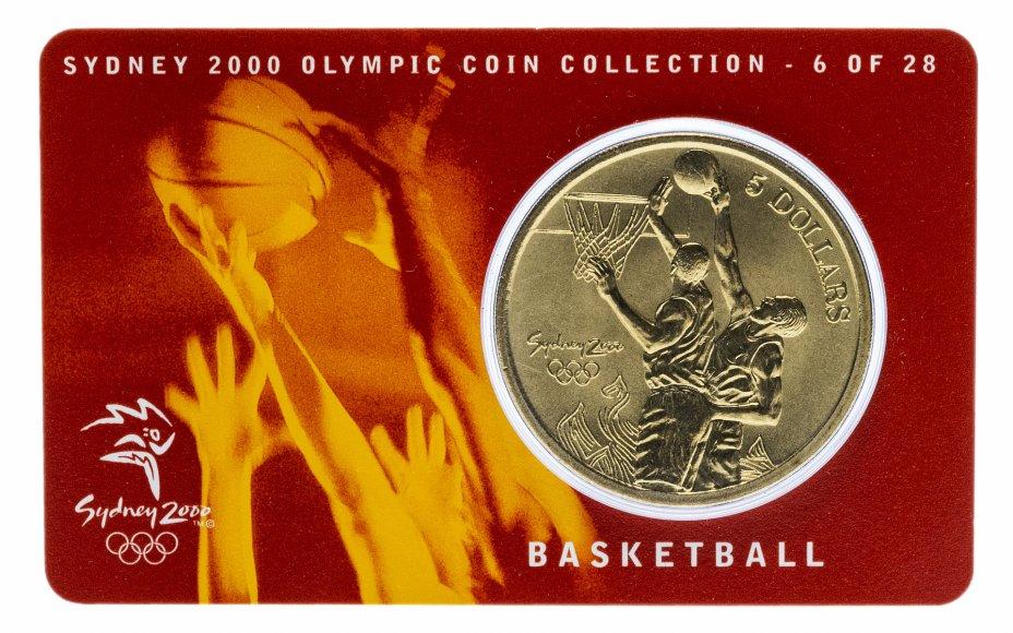 купить Австралия 5 долларов (dollars) 2000 Олимпийские игры в Сиднее - Баскетбол