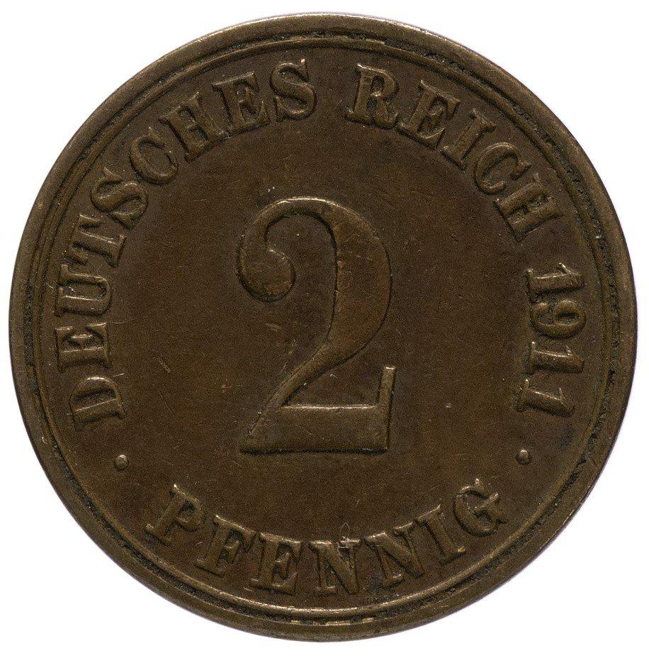 """купить Германия 2 рейх пфеннига 1911 """"А"""""""