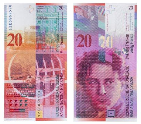 купить Швейцария 20 франков 2012 (Pick 69f(2))