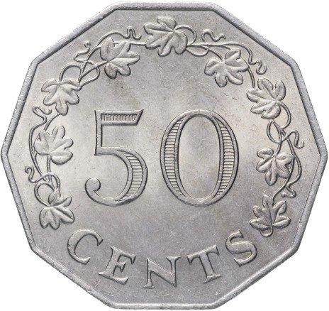 купить Мальта 50 центов 1972