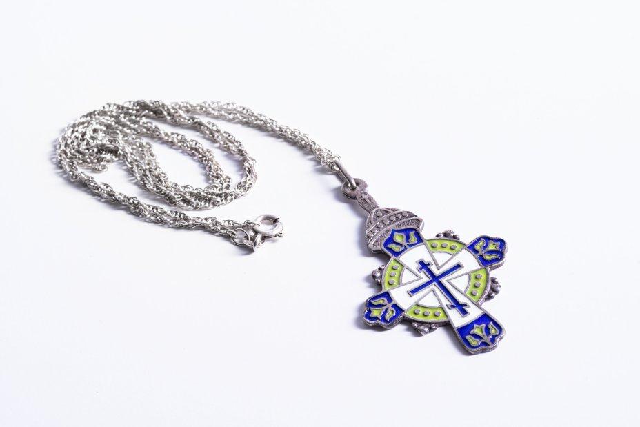 купить Крест нательный, серебро 925 пр., эмаль, Россия, 2000-2015 гг.