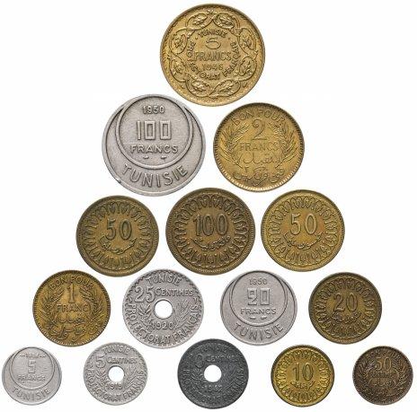 купить Тунис набор из 15 монет 1919-2009