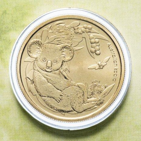 """купить Австралия 1 доллар (dollar) 2011 """"Детёныши диких животных - Коала"""" (в конверте, с маркой)"""