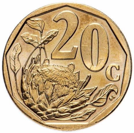 купить Южная Африка 20 центов 2019