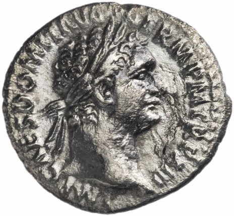 купить Римская Империя Домициан 81–96 гг денарий (реверс: Минерва стоит влево, в правой руке копье, левая на боку)
