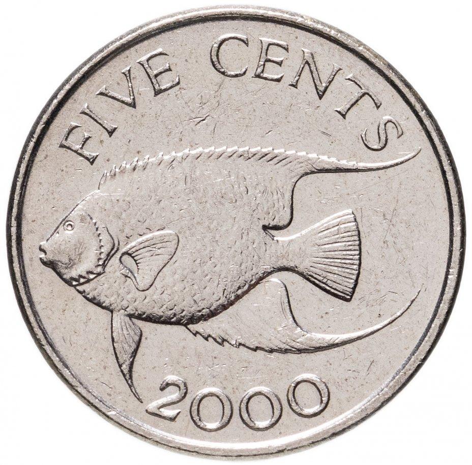 купить Бермуды 5 центов (cents) 1999-2019, случайная дата
