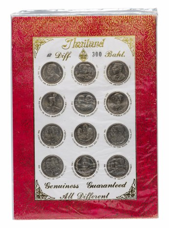 купить Таиланд набор 12 монет 2 бата в буклете