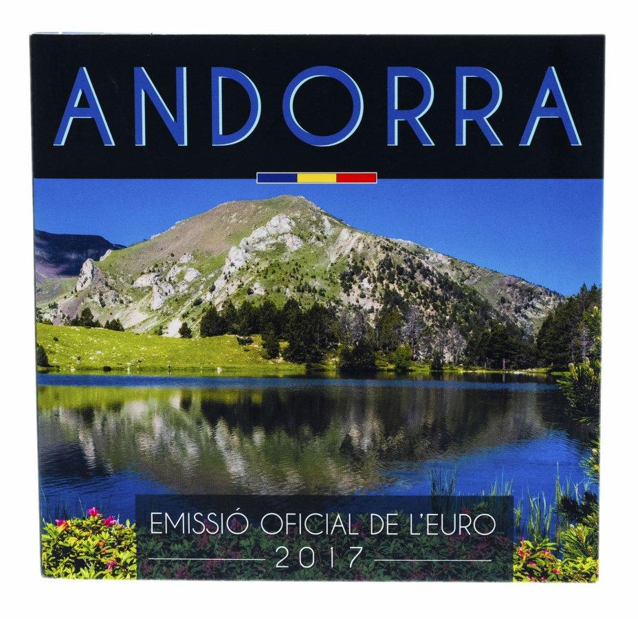купить Андорра годовой набор монет евро 2017 (8 штук, UNC в официальном буклете)