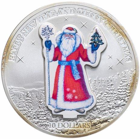 "купить Науру 10 долларов 2008 ""Дед Мороз"" монета-трансформер"