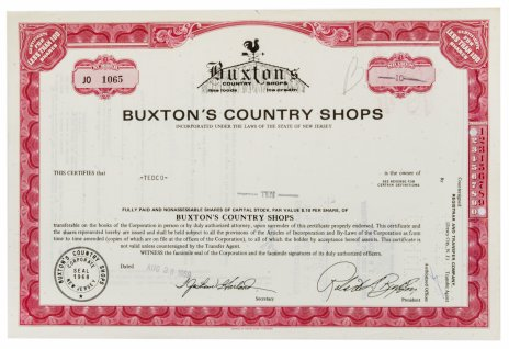 купить Акция США BUXTON'S COUNTRY SHOPS 1969 г.