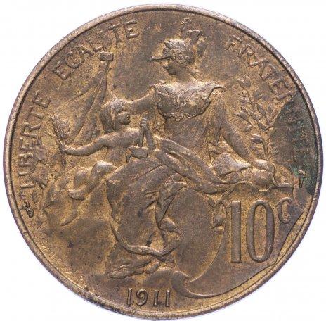 купить Франция 10 сантимов 1911