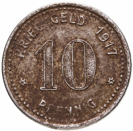 купить Германия (Люденшайд) нотгельд 10 пфеннигов 1917