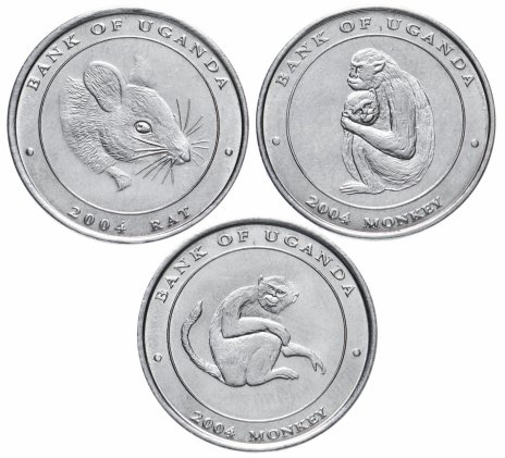 купить Уганда набор из 3-х монет 2004