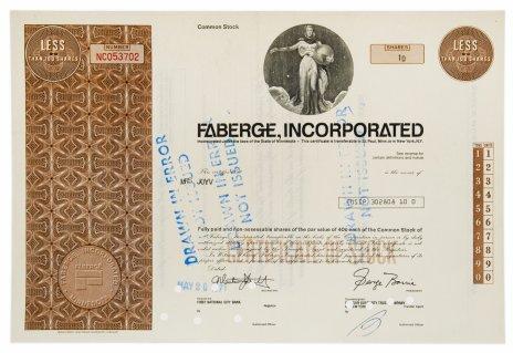 купить Акция США FABERGE, INCORPORATED , 1971 г.