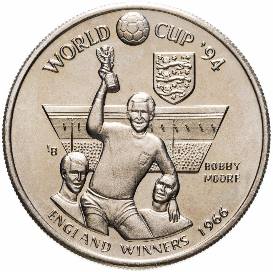 """купить Тёркс и Кайкос 5 крон (crowns) 1993 """"Чемпионат мира по футболу 1994 - Победитель 1966 Англия"""""""