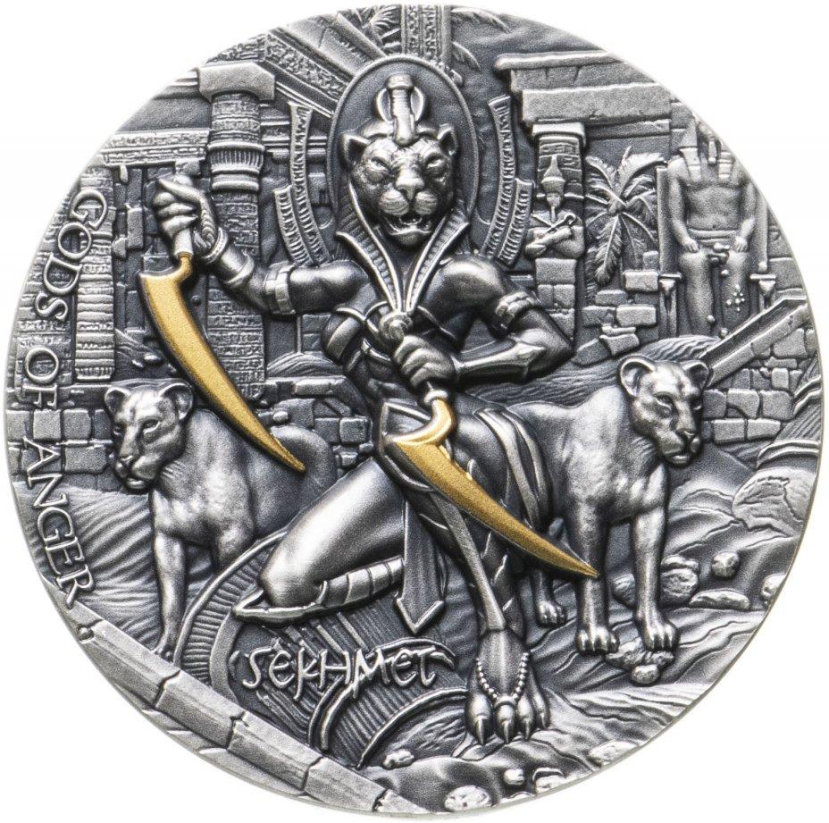 """купить Остров Ниуэ 5 долларов 2021 """"Богиня Сехмет"""", в футляре с сертификатом"""