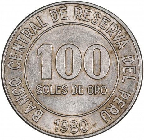 купить Перу 100 солей 1980