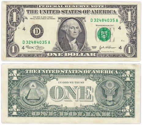 купить США 1 доллар 2003 (Pick 515a) D-Кливленд