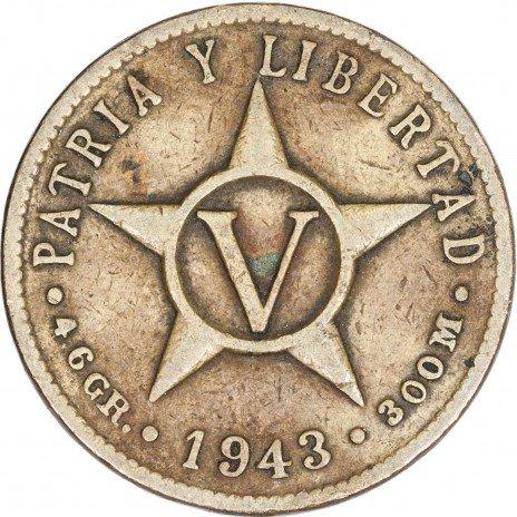 купить Республика Куба 1 сентаво 1943