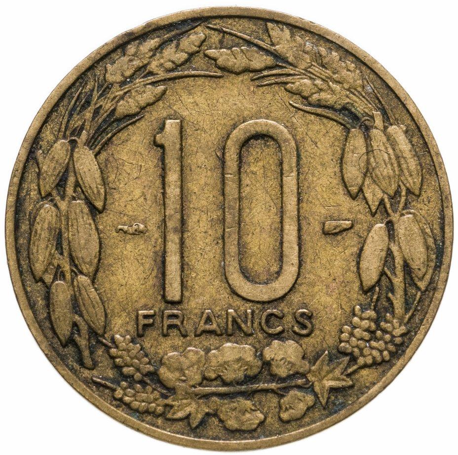 купить Французская Экваториальная Африка 10 франков (franc) 1958 Камерун
