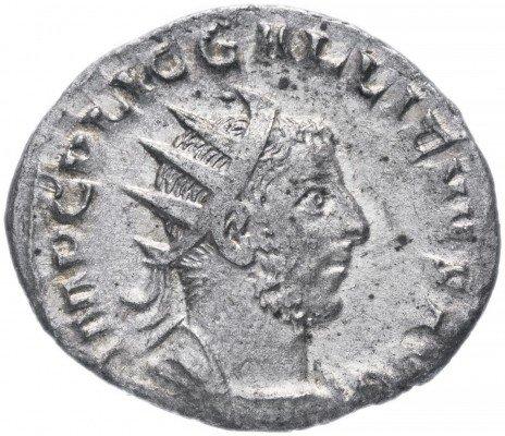 купить Римская Империя Галлиен 253-268 гг антониниан (реверс: Воин стоит влево, опираясь на щит)