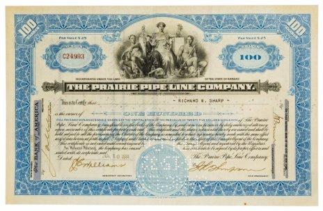купить Акция США THE PRAIRIE PIPELINE COMPANY, 1931 г.