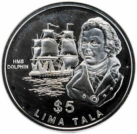 "купить Токелау 5 тала 1989 ""Фрегат Дельфин, капитан Джон Байрон"""