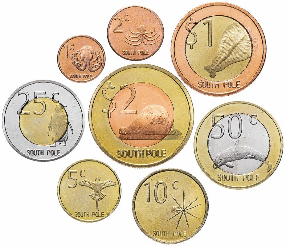 купить Антарктида (Южный Полюс) набор монет 2013 (8 штук)