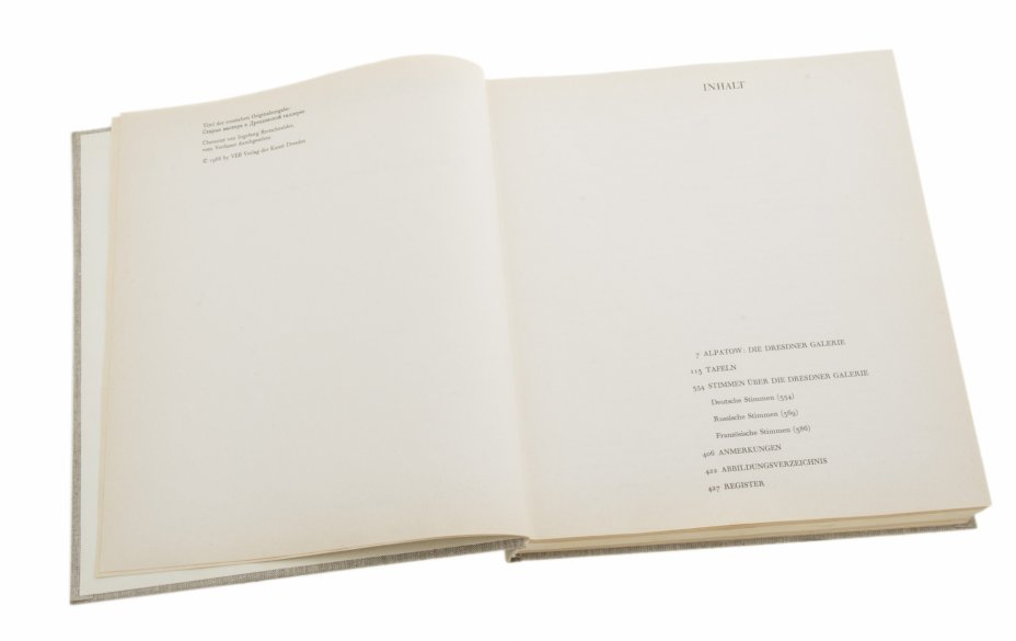 """купить Алпатов М. В. """"Старые мастера в Дрезденской галерее"""", бумага, печать, ткань,  Издательство """"VEB Verlag der Kunst Dresden"""", Германия, 1966 г."""